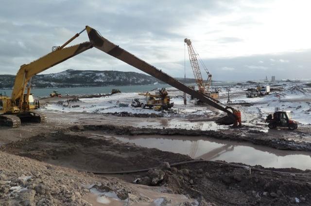 husky energy graving dock construction dexter construction